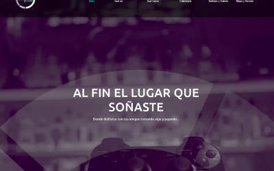Diseño de páginas web para empresa Madrid bar Gaming de juegos online y eSports pub