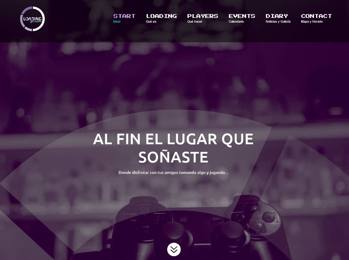 creacion web empresa gaming