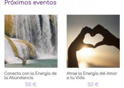 creacion web energias sanacion Diseño paginas web