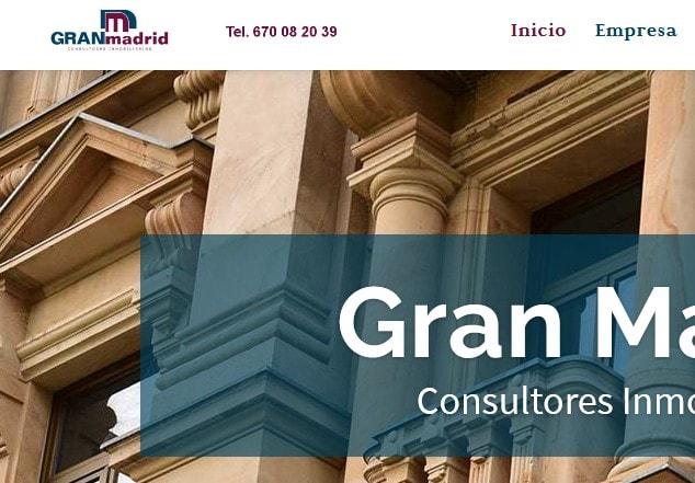 Diseño de página web para inmobiliaria de Madrid para inmuebles de alto standing