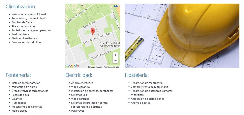 pagina para instaladores