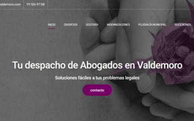 Diseño de página web para despacho de abogados, legal, indemnizaciones, divorcios, gestoría, sucesiones