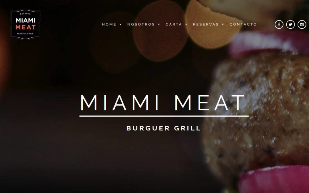 Diseño de páginas web para empresa restauración hamburguesería de calidad y parrilla