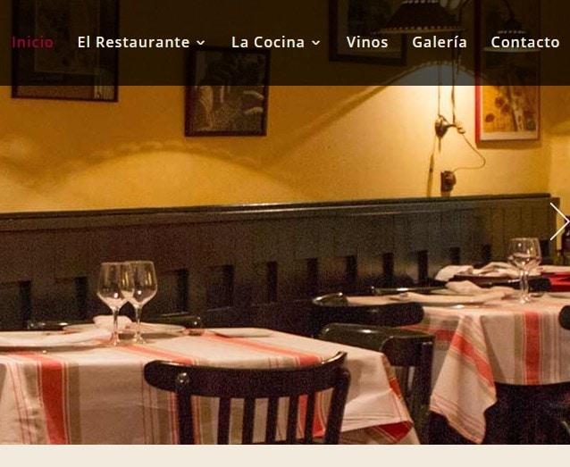 diseñadores web restaurante