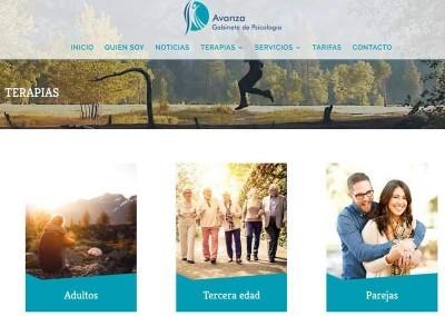 creacion web psicologia terapias Diseño paginas web
