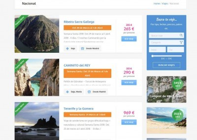 Creacion Web Senderismo Viajes