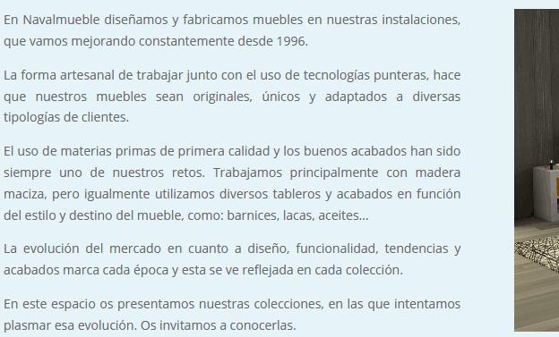 web para fabrica Madrid