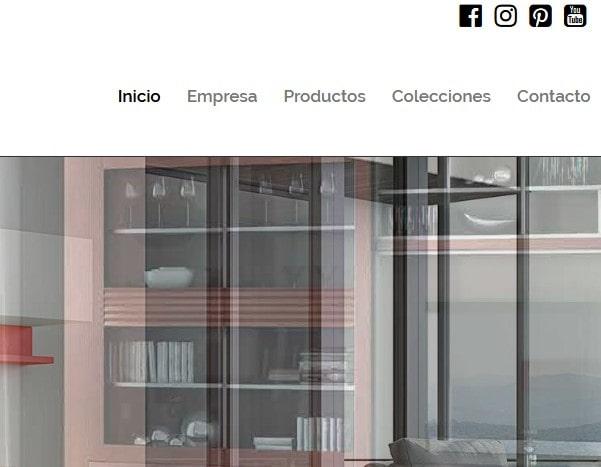 web para muebles