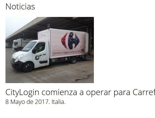 pagina empresa transportes creación