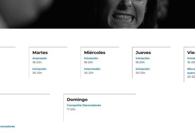 Cursos Talleres Teatro Diseno Web