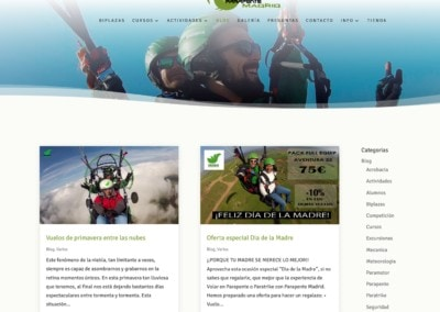 cursos actividades paramotor paratrike madrid Diseño paginas web