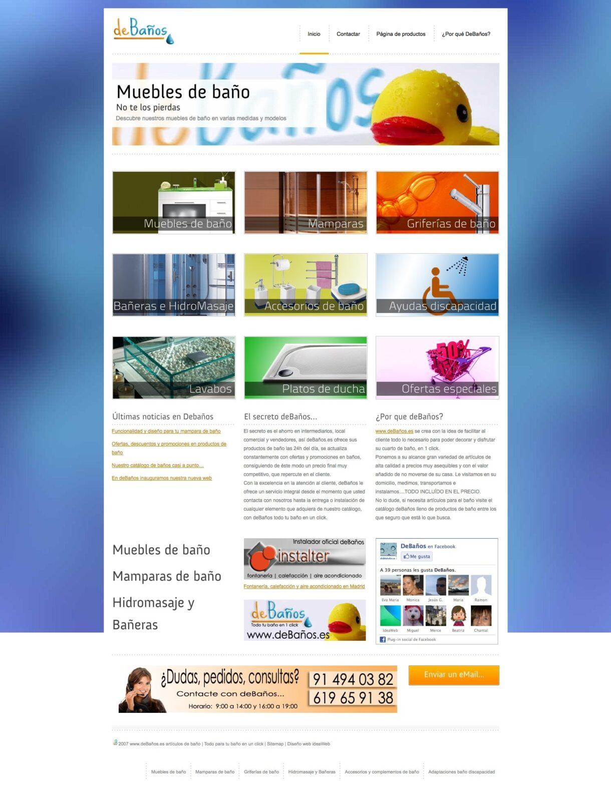 www.deBaños.es Todo tu baño 1 solo click