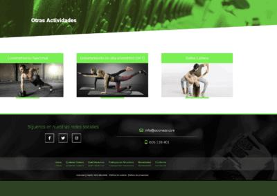 deporte baile campamentos disenadores web Diseño paginas web