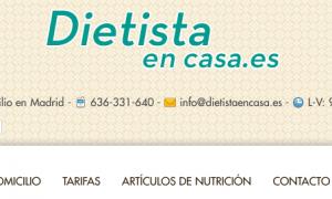 dietista nutricionista a domicilio diseño web
