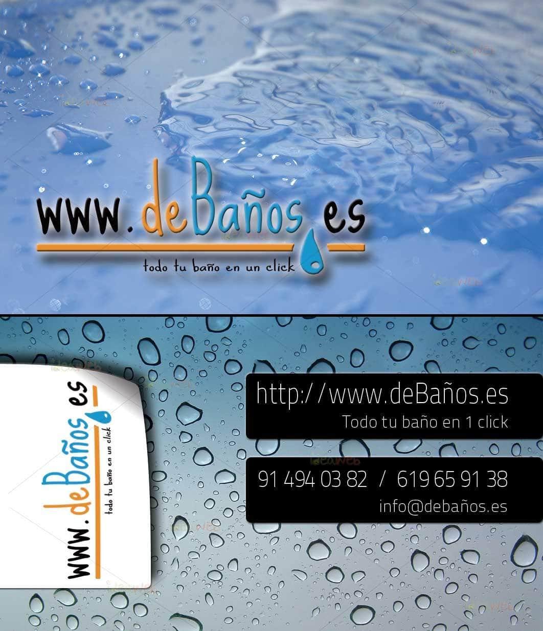 Diseño tarjetas de visita deBaños.es
