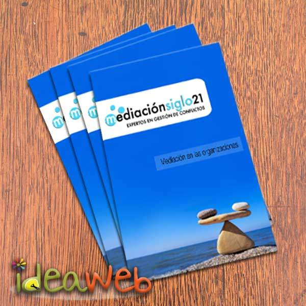 Diseño de catálogo para empresa de mediación en Madrid