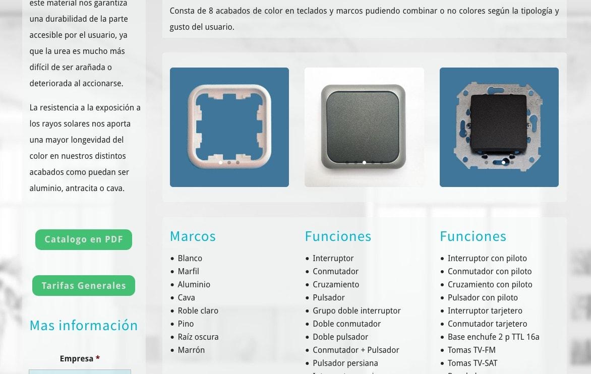 web fabricante español