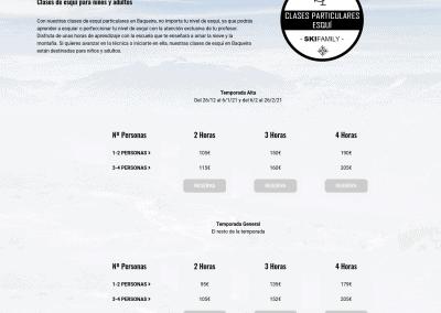 Disenadores Web Esqui Snowboard Tarifas