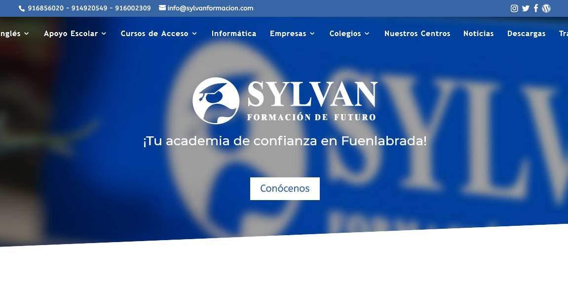 diseno academia cursos ingles Diseño paginas web