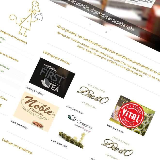 Diseño pagina web para venta productos delicatessen