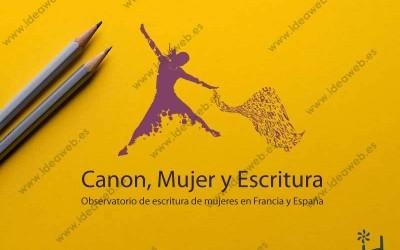 Diseño de logotipo Madrid proyecto literario mujer y escritura