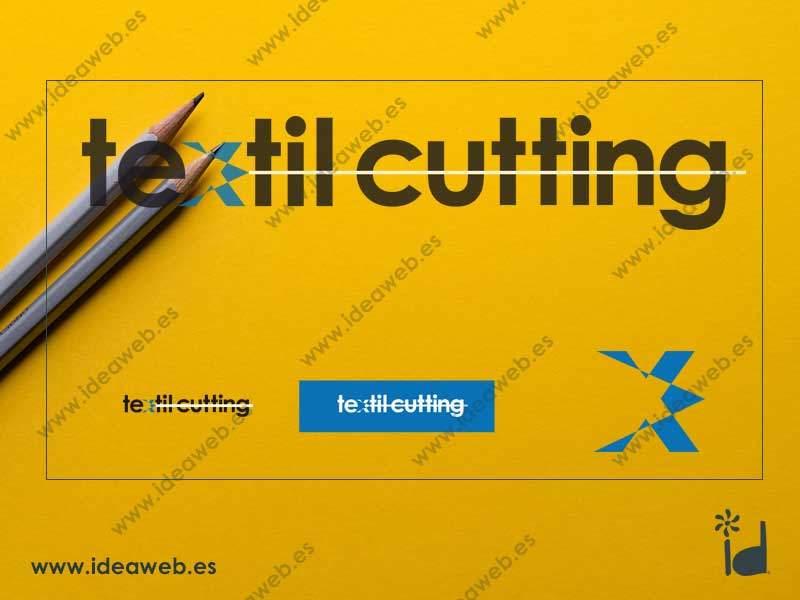 Diseño de logotipo empresa textil confección corte