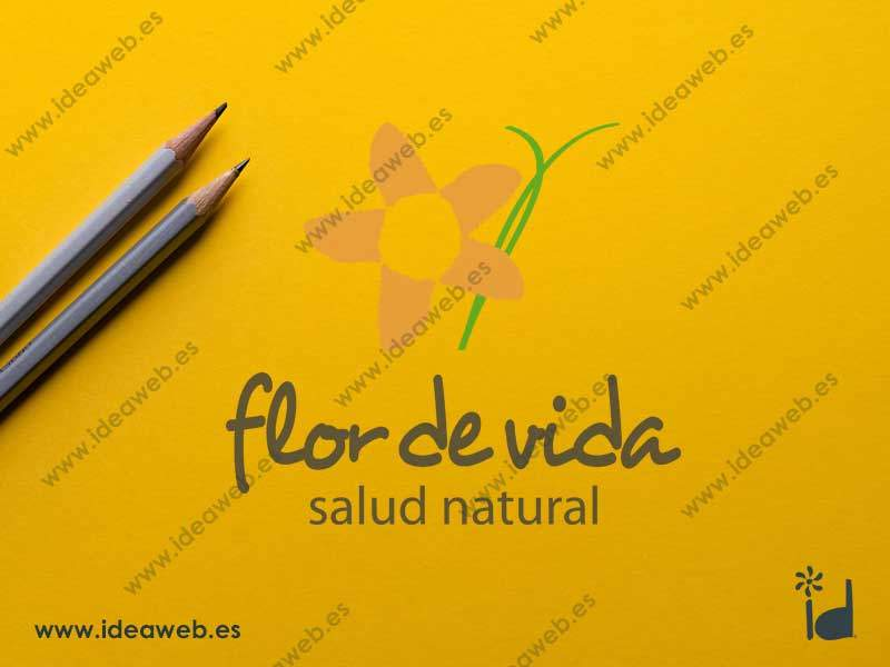 Diseño logotipo herbolario salud natural