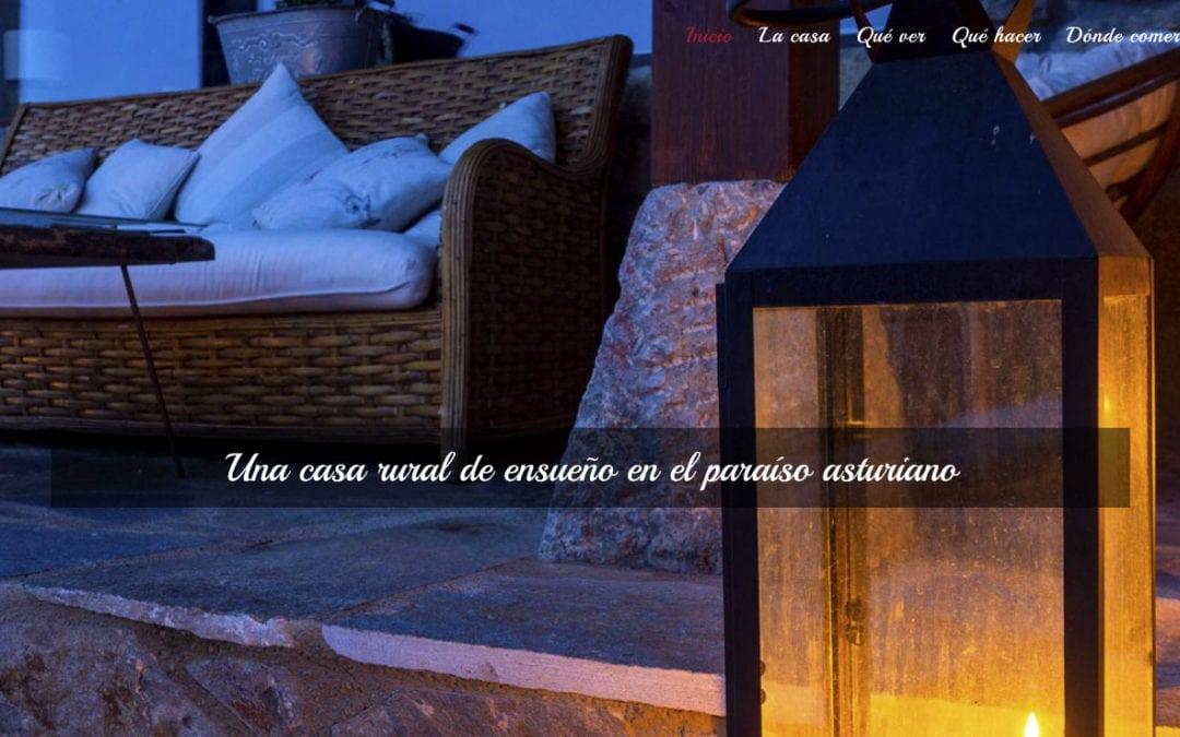 Diseño de página web para casa rural en Asturias. Diseño web alojamientos y hoteles rurales.