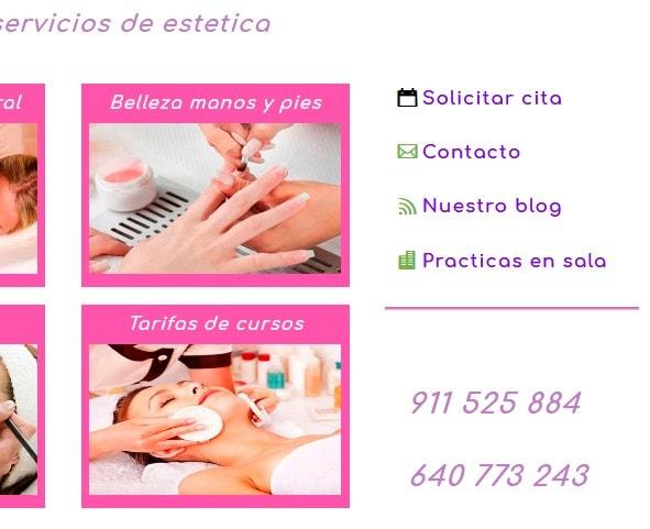 web centro belleza