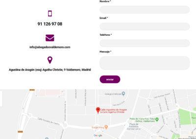 diseno pagina despacho abogados Diseño paginas web