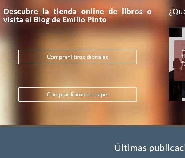 Diseño de página web para editorial y venta de libros escritor. Web oficial escritores.