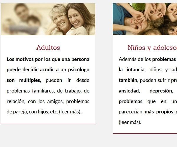 diseño de web psicologo