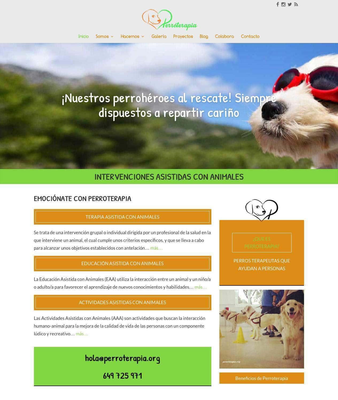Diseño de página web para asociación del sector social en Madrid