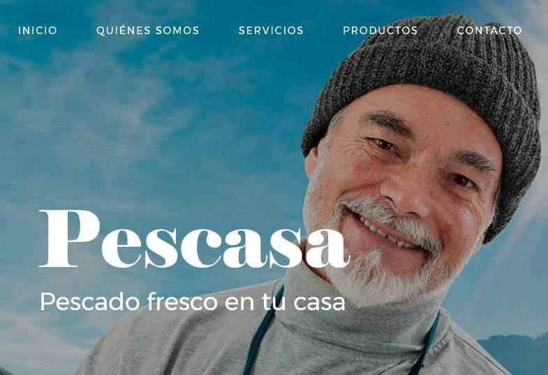 Diseño de página web para empresa de distribución de pescados y mariscos Pescasa