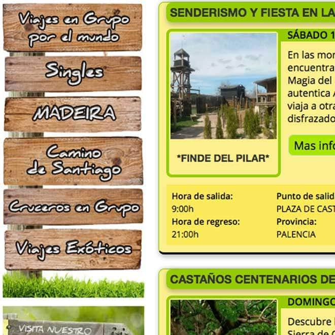 Desarrollo de página web a medida para club de senderismo y viajes
