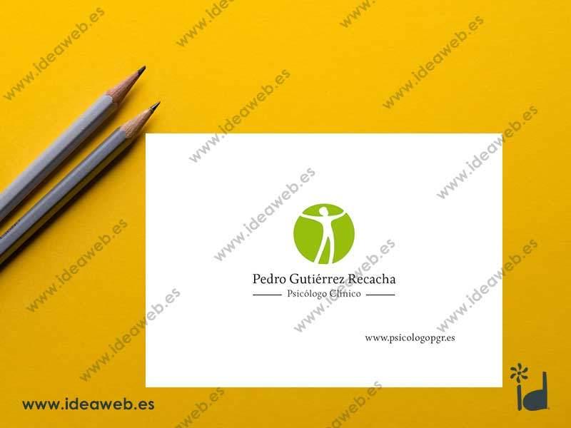 Diseño de tarjeta de visita Psicólogo Clínico