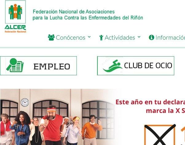 Creación de página web para federación nacional de asociaciones.