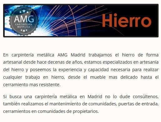 web para carpinteria Madrid
