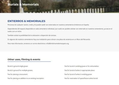 Diseno Web Cementerios Britanicos