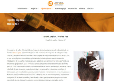 diseno web clinica capilar