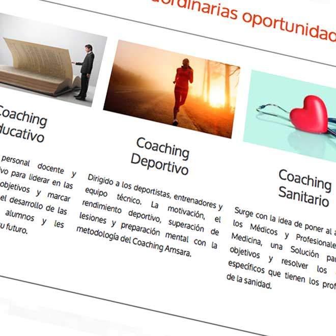 Diseño de página web para empresa de coaching en Madrid