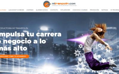 Diseño de página web para empresa de castings, producción, cine, publicidad, spots, redes sociales