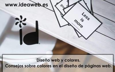 Diseño web y colores. Consejos sobre colores en el diseño de páginas web.