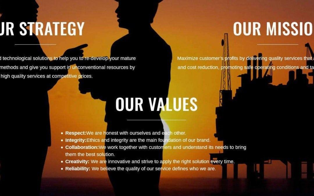 Diseño de página web para empresa consultora de petróleo y gas