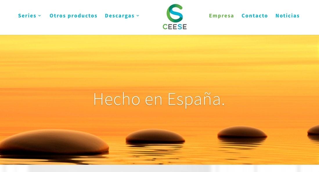 Diseño de página web para empresa fabricante de material eléctrico en España