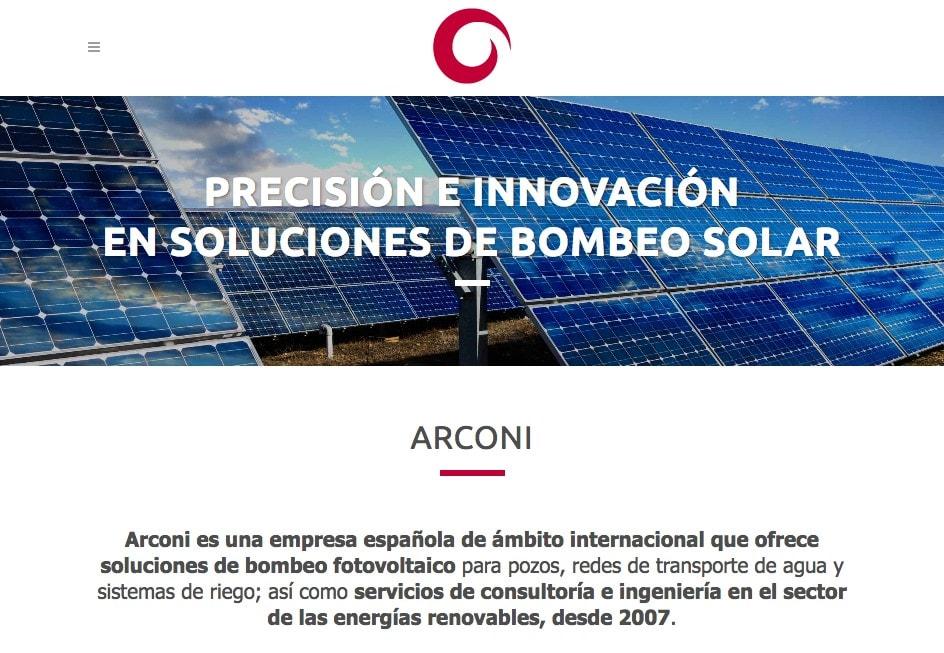 Diseño de página web para empresa internacional de ingeniería en energías renovables.