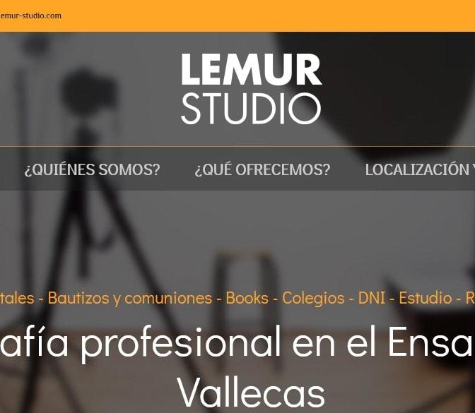 Diseño de página web para estudio fotográfico en vallecas y fotógrafos en Madrid