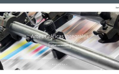 Diseño de página web para empresa de impresión gráfica y artes gráficas en Madrid