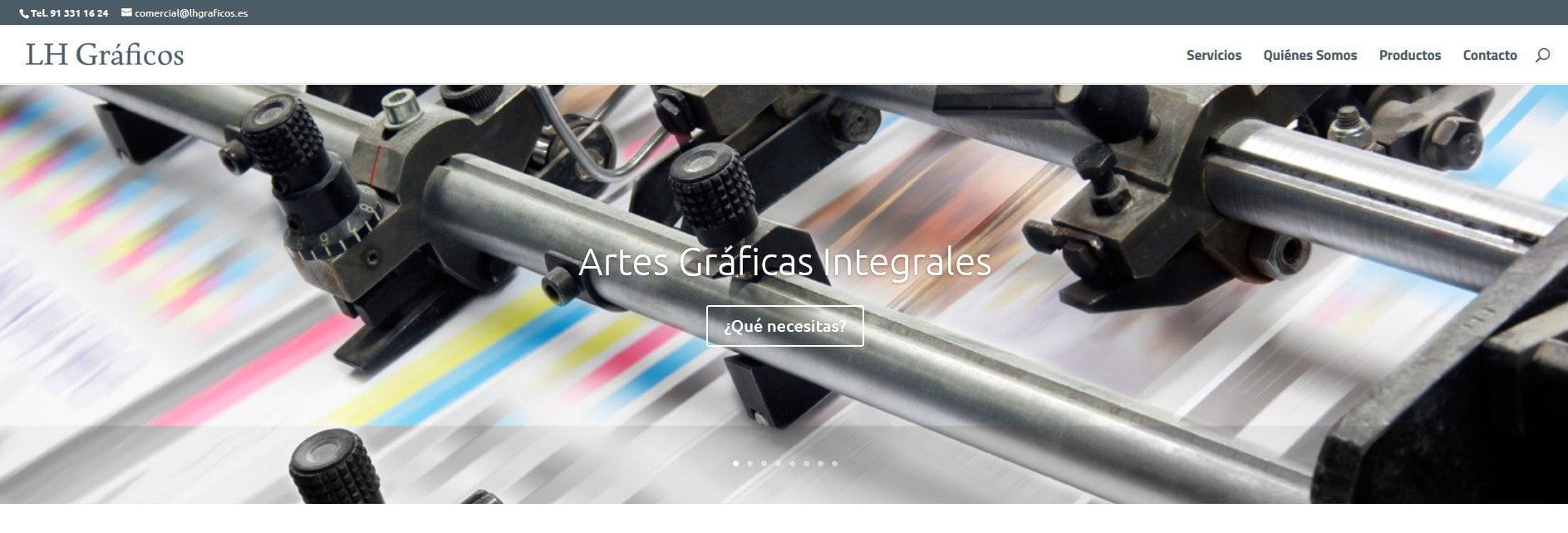 diseno web imprenta impresion Diseño paginas web