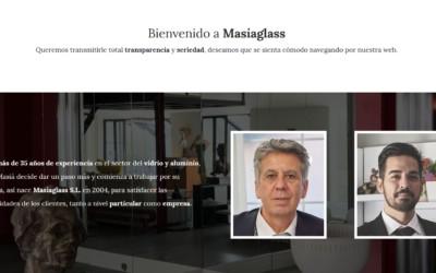 Diseño de pagina web para especialista en Cristal, vidrio y aluminio en Madrid